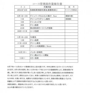 コース管理部作業報告書